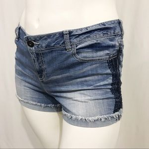 Maurices Embroidered Jean Shorts